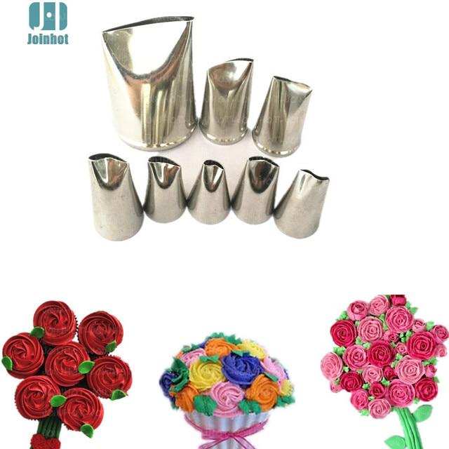 Bakken tools 8 stks rose bloemen nozzles Creatieve Icing Piping Nozzle Gebak Tips Suiker Ambachtelijke Cake Decorating Gereedschap