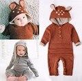 Comercio al por mayor 2017 de Otoño de Punto bebé niños niñas ropa set de manga larga Renos bebé Recién Nacido mono roupas de bebe