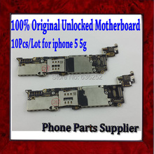 10Pcs/Lot For Apple iphone 5 5g Mainboard,100% Original Unlocked For iphone 5 5g Motherboard with Chips,Good Working Free Ship