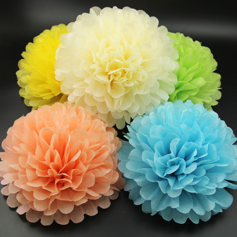 5piecelot large size 14 35cm tissue paper pom poms handmade 5piecelot large size 14 35cm tissue paper pom poms handmade flowers balls for wedding home birthday party decoration in artificial dried flowers from mightylinksfo Images