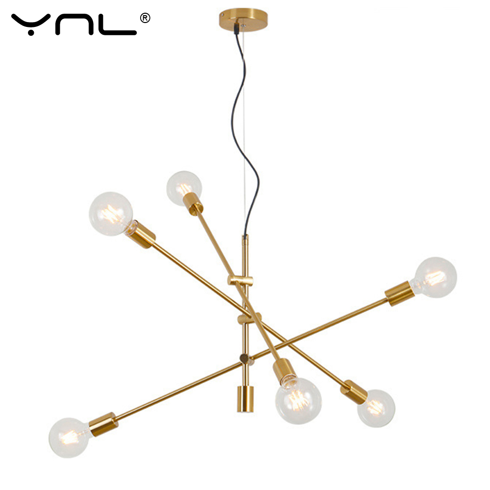 E27 Pendant Lamp Us 3 27 29 Off Ynl Nordic Modern Led Pendant Lights Hanging Light E27 Pendant Lamp Chandelier Ceiling Black Gold Led Lamp Industrial Decor In