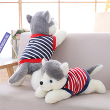 Husky Boy Plush Toys Crouching Dolls Children Soothe Boys and Girls Sleeping Pillows
