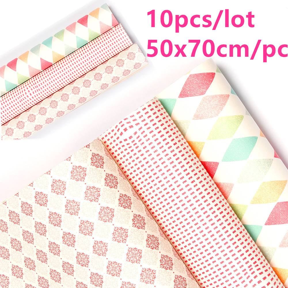 10pcs 50X70cm Candy Color Kraft <font><b>Paper</b></font> Gift Packing DIY Craft <font><b>Paper</b></font> Flowers Bouquet Wrapping Christmas Decor for Home image