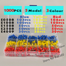 цена на 1000pcs/lot Cable Bootlace copper Ferrules kit set Wire Copper Crimp Connector Insulated Cord Pin End Terminal