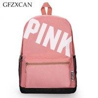 New PINK printing letter shoulder bag light casual backpack large capacity student bag outdoor sports backpack