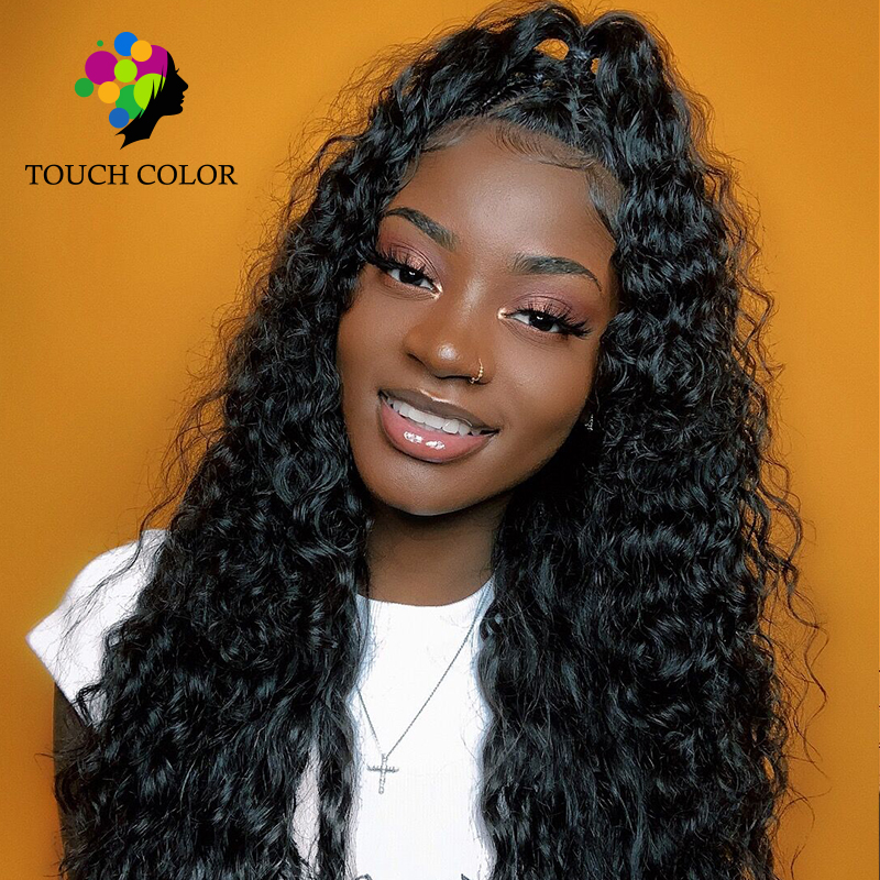 Touch Color Hair Malaysia Hair Jerry Curly Wave With Frontal 13*6 Swiss Lace Frontal Wigs 100% Remy Human Hair Weaving 8 26 Inch