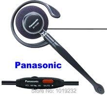 Miễn phí Vận Chuyển P a n một s o n i c KX TCA93 tai móc tai nghe 2.5 mét Cắm Ghi Chép Tai Nghe Volume Control Mic Điều Chỉnh CÂM