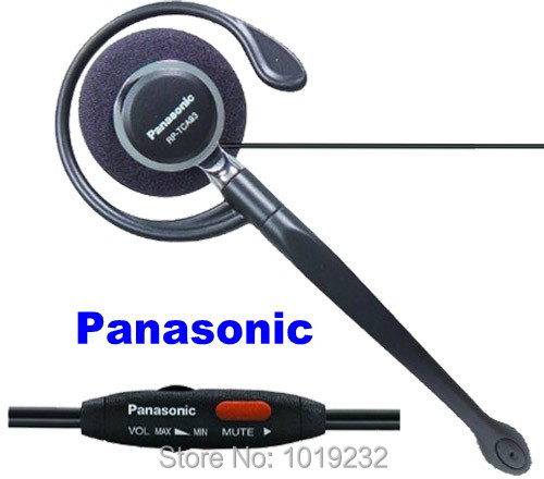"""משלוח חינם P n של n o i c KX TCA93 פתול תקע 2.5 מ""""מ אוזניות אוזן וו אוזניות אוזניות מיקרופון שליטה על עוצמת קול מתכווננת אילם"""
