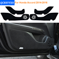 2 Colors Car - Styling Protector Side Edge Protection Pad Protected Anti-kick Door Mats Cover For Honda Accord 2014 2015 2016