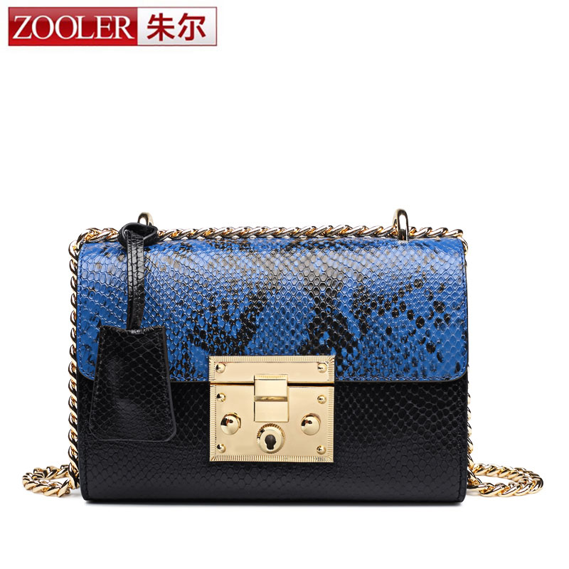 ZOOLER Small Women Messenger Bags Genuine Leather Shoulder Crossbody Bag Chain Bag Sheepskin Flap High Quality Female Single Bag fashion sheepskin mini women bag retro small fragrant bag chain diamond lattice small shoulder bags hasp women messenger bags