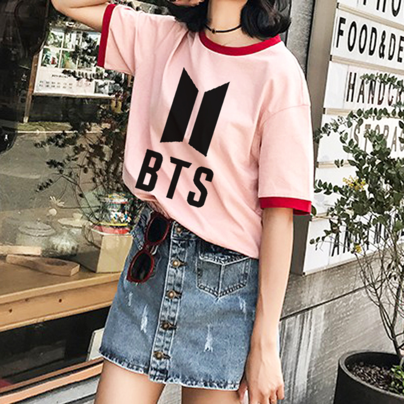 Newest Kpop Bts Ulzzang T Shirt Kawaii Harajuku K Pop Bangtan Boy T Shirt Love Yourself Bts Army K-pop Fans T-shirt