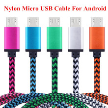 SIANCS Nylon Short 25cm 1m 2m Long Fast Charging Micro USB Cable Data Sync Charger Cable for Android Samsung Xiaomi OPPO SONY
