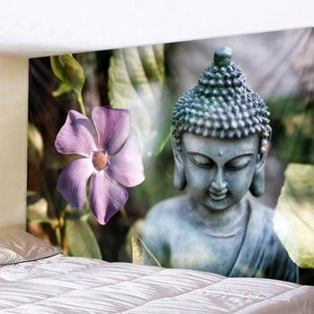 Tenture Bouddha Statue Zen