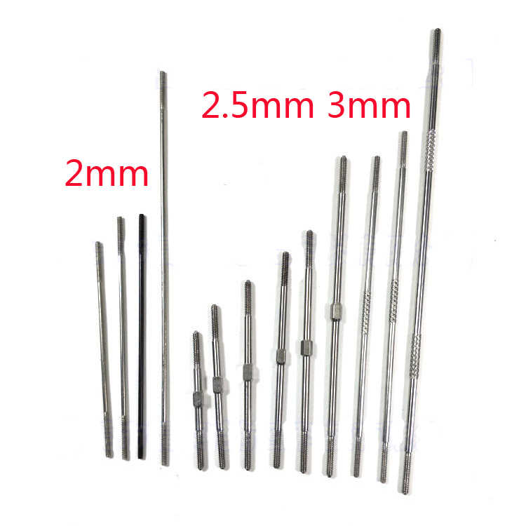 4pcs M2 M2.5 M3 Push Rod CW / CCW Thread For Ball Joint RC Airplane Replacement Part