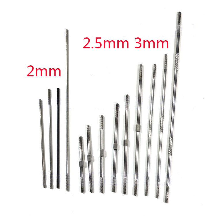 4pcs M2 M2.5 M3 Push Rod CW / CCW Thread For Ball Joint RC Airplane Replacement Part 20pcs aluminum m3 link rod end ball joint cw ccw for 1 10 rc car crawler buggy