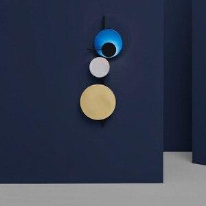 Image 2 - الشمال لوفت متعدد الألوان المعادن دائرة مستديرة وحدة إضاءة LED جداريّة مصباح الفن لتقوم بها بنفسك نمط كوكب وحدة إضاءة LED جداريّة الشمعدانات فندق السرير ديكرو إضاءة داخلية