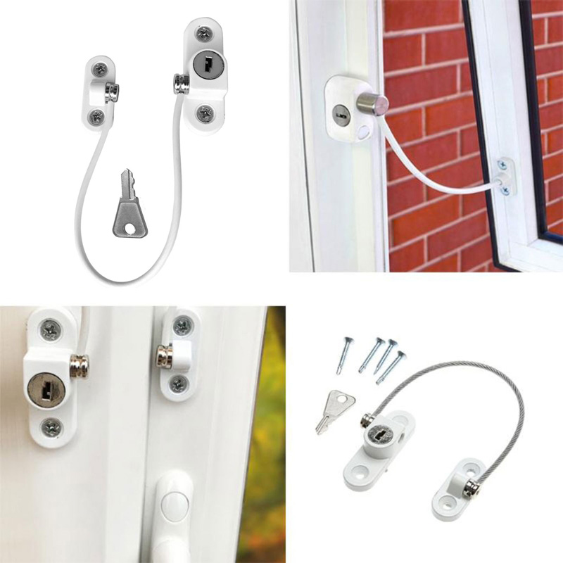 Child Safety Falling Window Locks Door Restrictor Window Security Chain Lock For Home Sliding Door Furniture