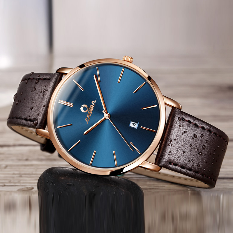 CASIMA New Couple Watch Men Leather Strap Waterproof Men's Watch 2018 relogio masculino Lover's Watches Top Brand Luxury Clock casima top brand luxury men s watch men chinese style leather strap watches lover s clock relogio masculino