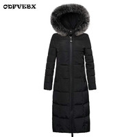 Padded Long Over The Knee Cotton Coat Female New Winter Women's Outwear Slim Large Size 3XL Thick Parkas Warm Down Cotton Jacket