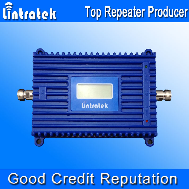 Lintratek 4G LTE Ampli Repeater LCD 4G 2600MHz Signal Booster 70dBi Gain 2600 4G LTE Amplifier