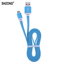 Flat Noodle Micro USB Charging Cable for Samsung S6 S7 Android Phone Light in Dark Data Cord for iPhone 5s 6s 7 Plus X177 X178