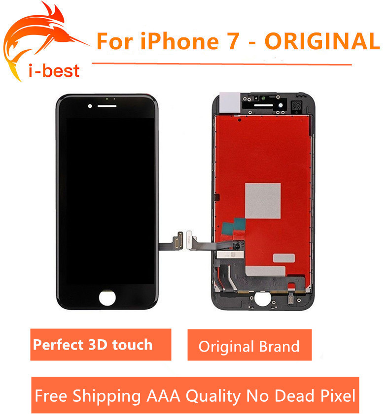 3pcs/lot For iphone7 LCD Original Assembly With 3D Touch Screen Display Replacement No Dead Pixel For iPhone 7 LCD 4.7 Free dhl replacement original touch screen lcd display assembly framefor huawei ascend p7 freeshipping