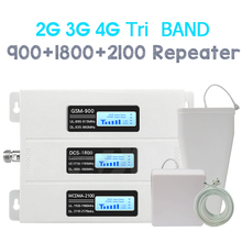 Repeatnet трехдиапазонный сотовый ретранслятор 900/1800/2100 г/м² DCS WCDMA 2G 3g 4G усилитель сигнала Группа 1 4G телефона набор усилителя
