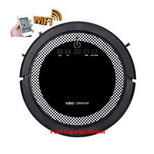 (SPSR Free ShippingTo Russia)Smartphone WIFI APP Robot Vacuum Cleaner Smart Sweeping Rechargeable Remote Control with Water tank