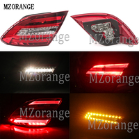 MZORANGE Rear Brake Turning Parts LED Tail Lamps Taillights For Mercedes Benz W204 C180 C200 C220 C260 C280 C300 2011 2014