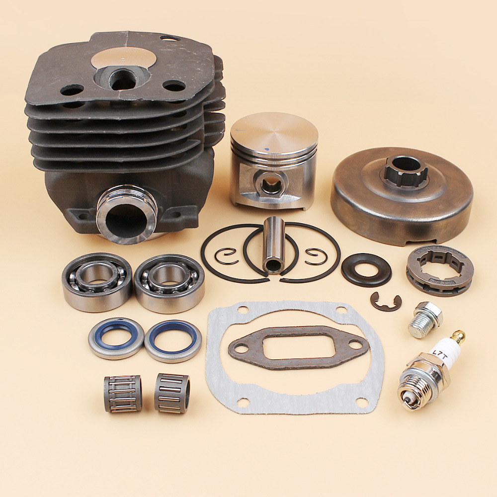 Cylinder Piston Crank Bearing Clutch Drum Sprocket Rim Rebuild Kit For HUSQVARNA 362 365 371 372 XP (50mm) Chainsaw Parts бензопила husqvarna 372 xp 9657029 18
