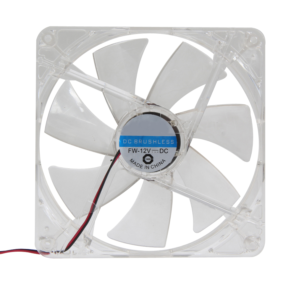 14 x 14cm Red LED PC Cooling Fan Computer Clear Case 7-Blade CPU 12V 4pin Computer PC Case Cooler CPU Cooling LED Fan