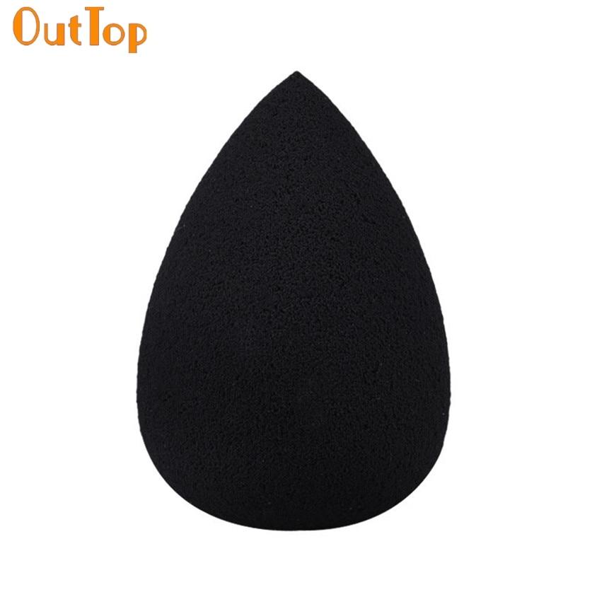 OutTop ColorWomen 1PC Black Waterdrop Sponge Cosmetic Makeup Puff 160715 Drop Shipping F30HW
