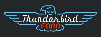 Thunderbird Ford Glass Neon Light Sign Beer Bar