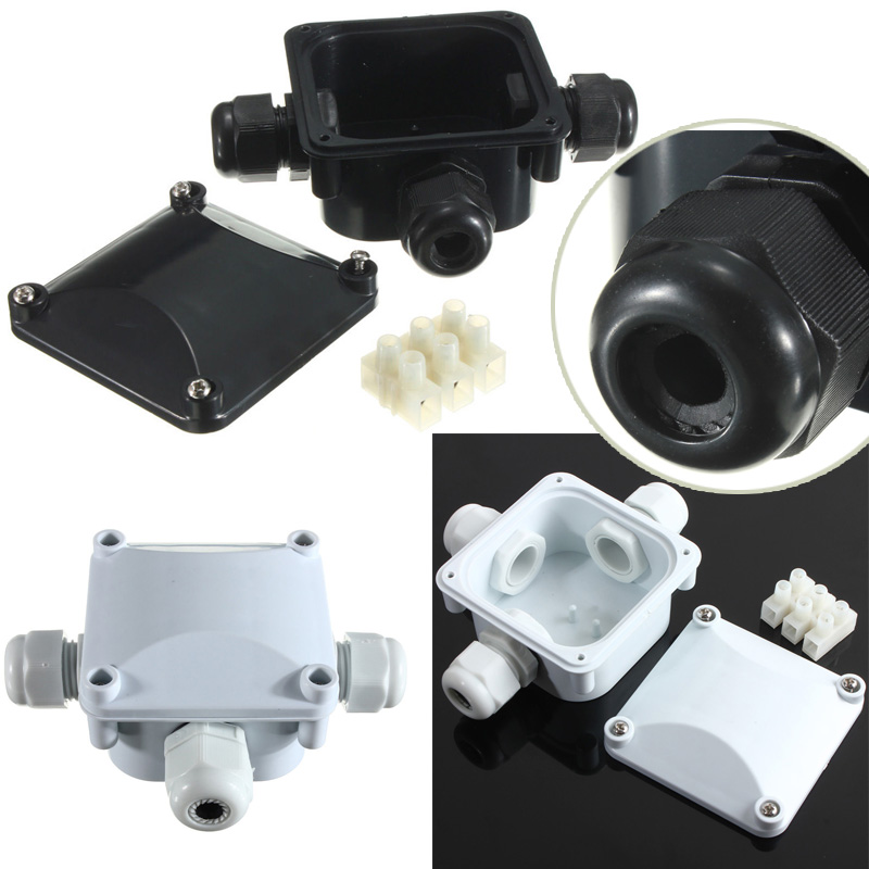 1pc Waterproof Junction Box Terminal 3 Port Underground Cable Protection Building Connectors IP68 For Street Lawn Flood Light yhlz 8 terminal junction modules term mod mr li