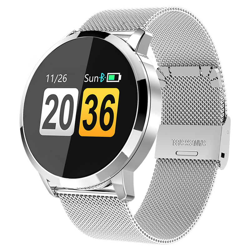 Relógio Das Mulheres Dos Homens de Fitness Inteligente OLED Tela de Toque Pressão Arterial Monitor de Freqüência Cardíaca Pedômetro Saúde Sport Watch Para Android IOS