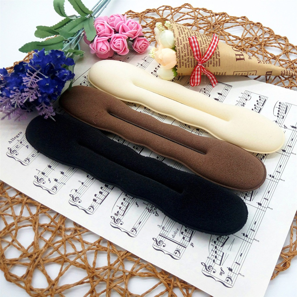 1 pcs Women Magic Large Size Sponge Foam Hair Disk Hairs Band Tool Quick Messy Bun Updo   Headwear   Accessories