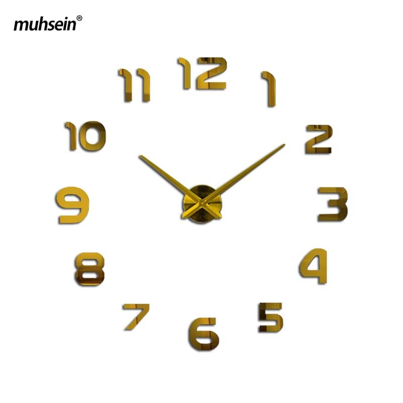 2019 muhsein Clock Watch Պատի Ժամացույցներ Horloge 3D - Տնային դեկոր - Լուսանկար 4