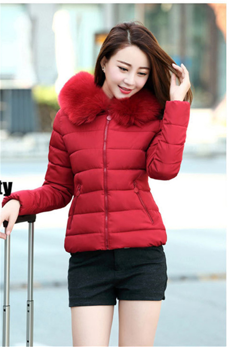 2017 Women Winter Parkas Cotton Padded Coat Hooded with Fur Female Warm Jackets Middle-aged Mother Clothing Overcoat Top WS553