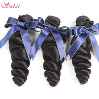 Satai Loose Wave Peruvian Hair 100 Human Hair Natural Color 8 28 Inches Remy Hair Weaving
