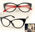 eye glasses frames  Fashion choice  Cat's eye shape  Plain glass spectacles women eyeglasses  frames decorations optical glasses