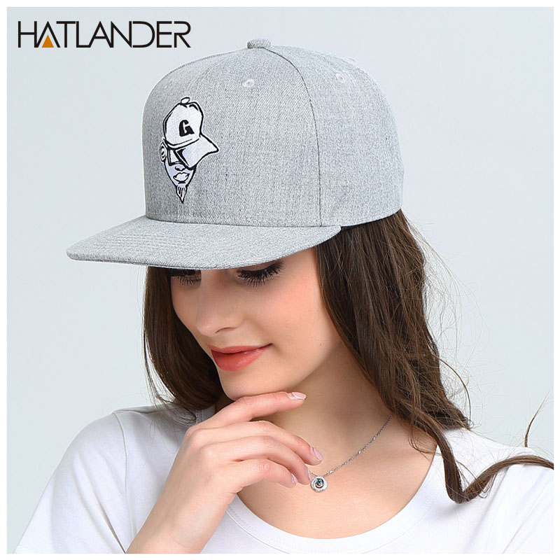 Prix pour Hatlander cappellino casquettes de baseball lettre G gorras os casual 6 panneau cap coton cool hip hop snapback casquettes chapeaux pour femmes mens