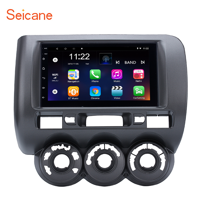 Seicane for 2002 2003 2007 2008 HONDA Jazz Manual AC Right Hand Drive Android 8 1