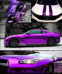 Image 3 - Good quality High stretchable Waterproof UV Protected Purple Chrome Mirror Vinyl Wrap Sheet Roll Film Car Sticker Decal Sheet