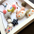 Fashion Children Kids Baby Jewelry Sweater Rope Chain Necklaces Cute Cloth Art Star Banana Necklace Collar Choker for Woman Girl