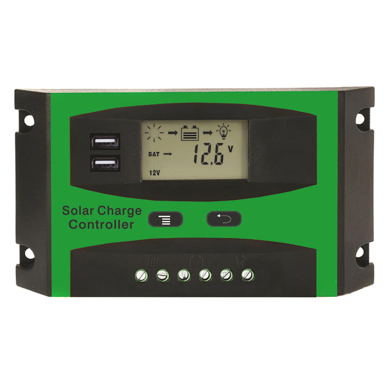 Solar Power Controller 30A Dual USB Mobile Solar System Controller Charging LCD Temperature Display JDH99 solar power panel controller pwm 10a dual usb output mobile phone charging hd display wwo66