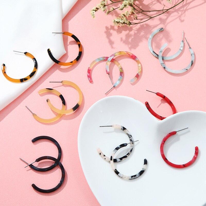 Women's Earrings Vintage Color Leopard Acetate Geometric Element Earrings Suitable For Wedding Party Girls Jewelry