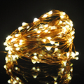 AA Warm White LED Copper Wire String Fairy Lights 10M 100LED  led Christmas Holiday Wedding Party Decoration With Batter Case