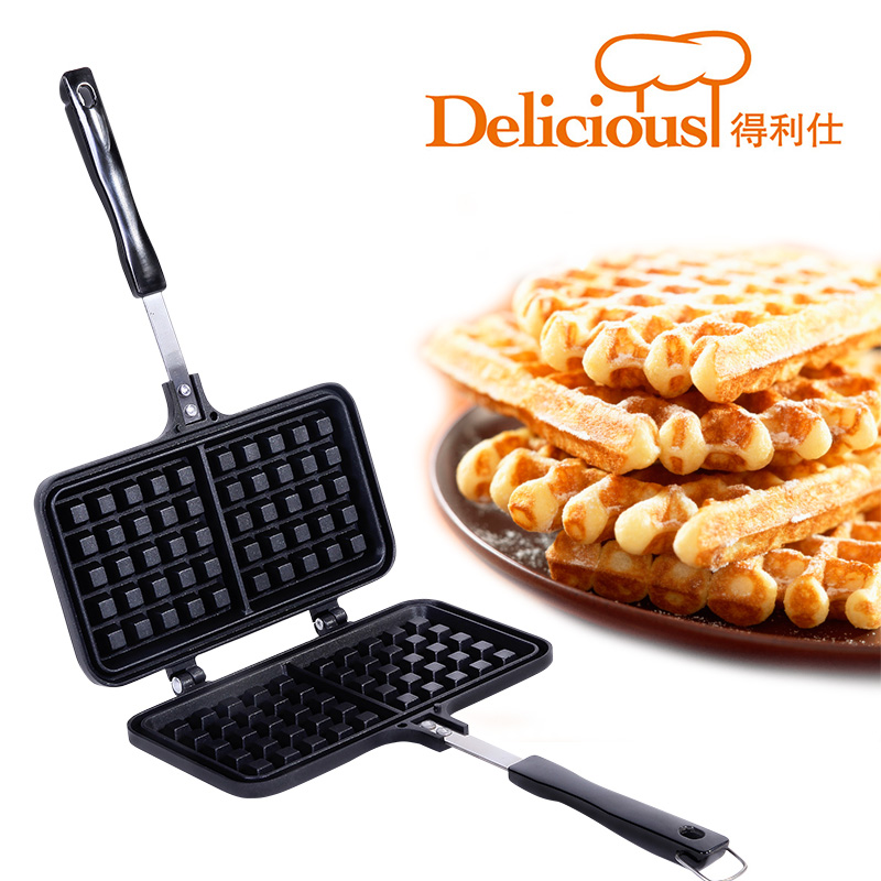 Waffle mold Baking Biscuit mold Gas Cake baking pan Waffle machine DIY tools egg mold commercial electric gas metal baking pan tool for cake heart waffle mould roller kitchen accessories christmas
