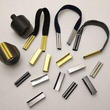10 шт 7,5*25 мм бесшовные металлические шнурки наконечники Сменная головка для шнурков цилиндрические наконечники квадратные DIY шнурки Аксессуары