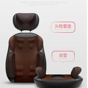 Image 3 - Shiatsu silla eléctrica de masaje corporal multifuncional, cojín de calefacción con vibración para relajación, cuello, espalda, oficina y hogar